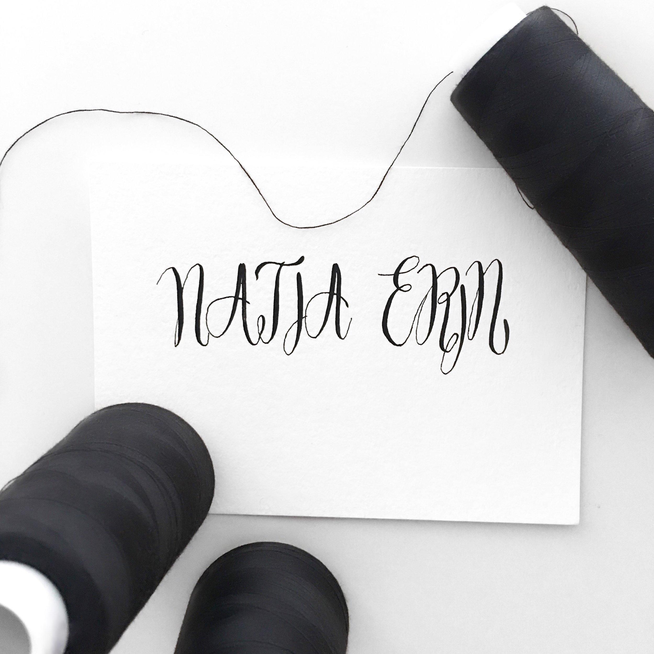 NATIA ERIN + black sewing thread