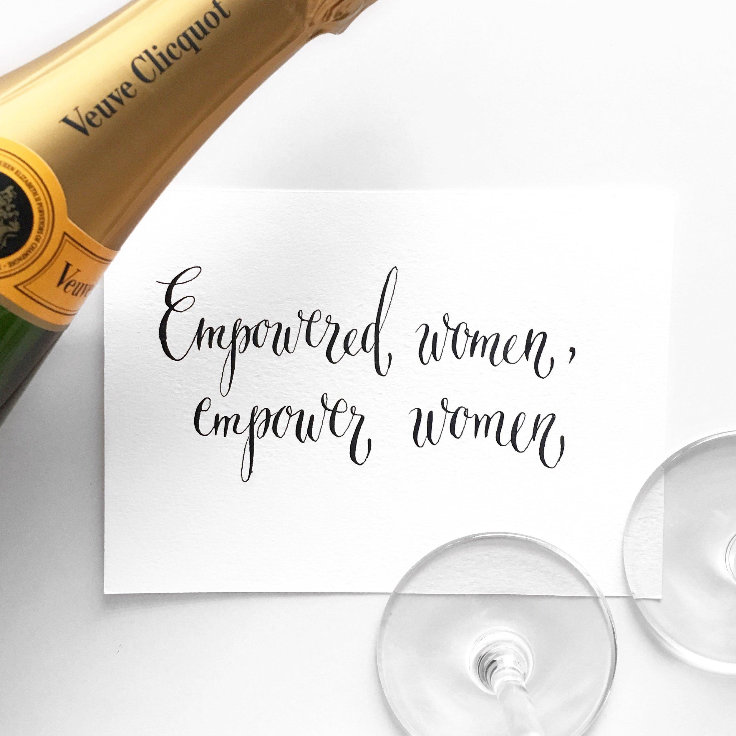 Empowered Women, empower women + Veuve Champagne