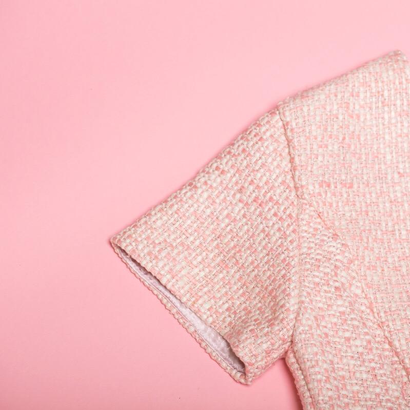 NATIA ERIN + Senate Dress + Pink Background