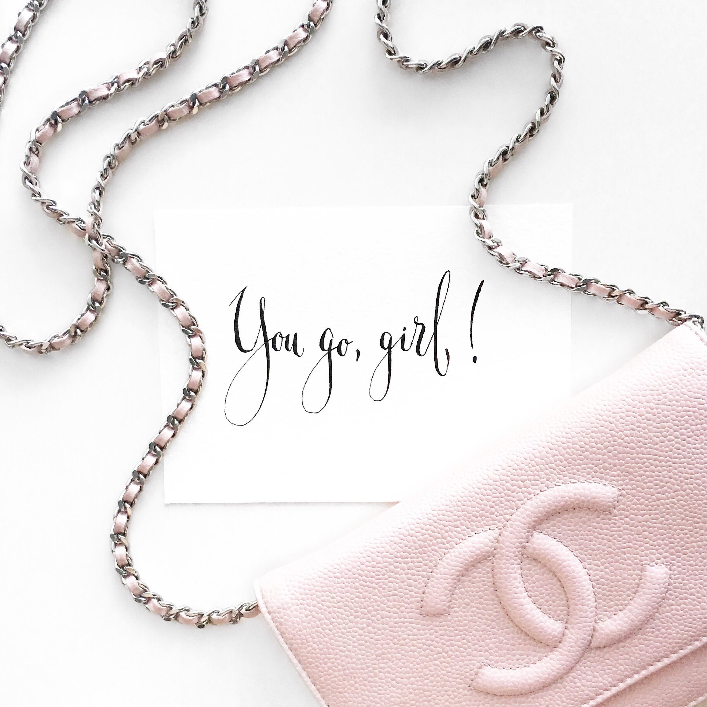 Chanel + You go, girl! + Flatlay