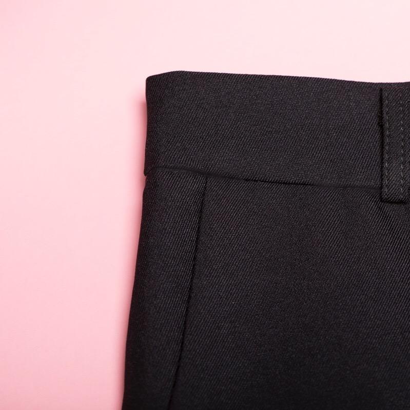 Power Suit Pants + Pink Flatlay