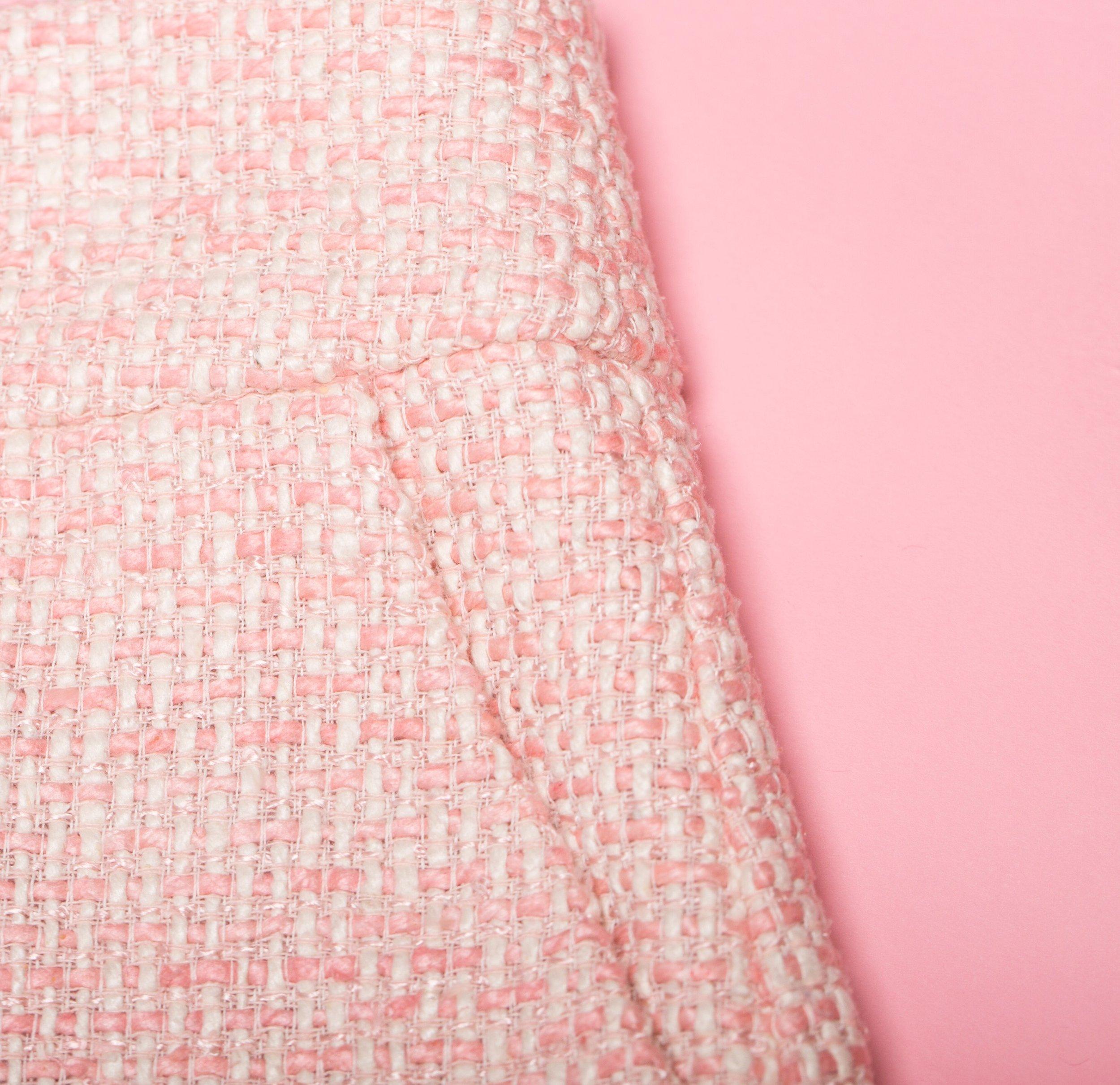 Pink tweed pencil skirt + NATIA ERIN