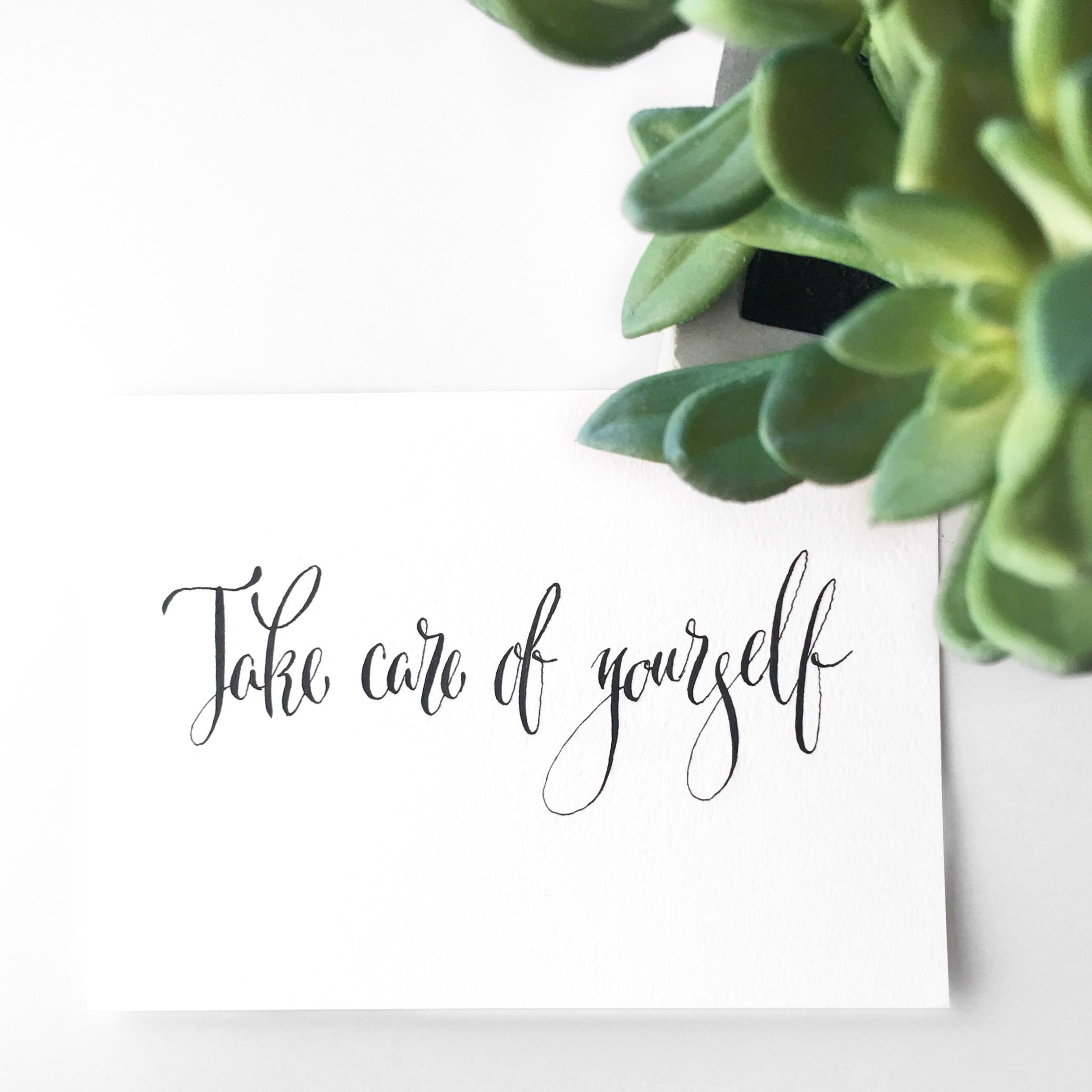 Take care of yourself +layflat