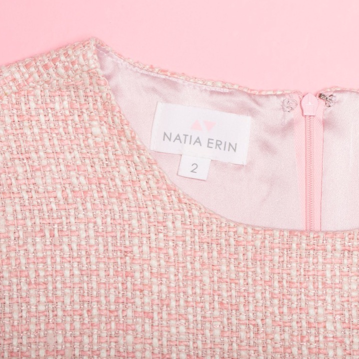 Pink Tweed Top for Work
