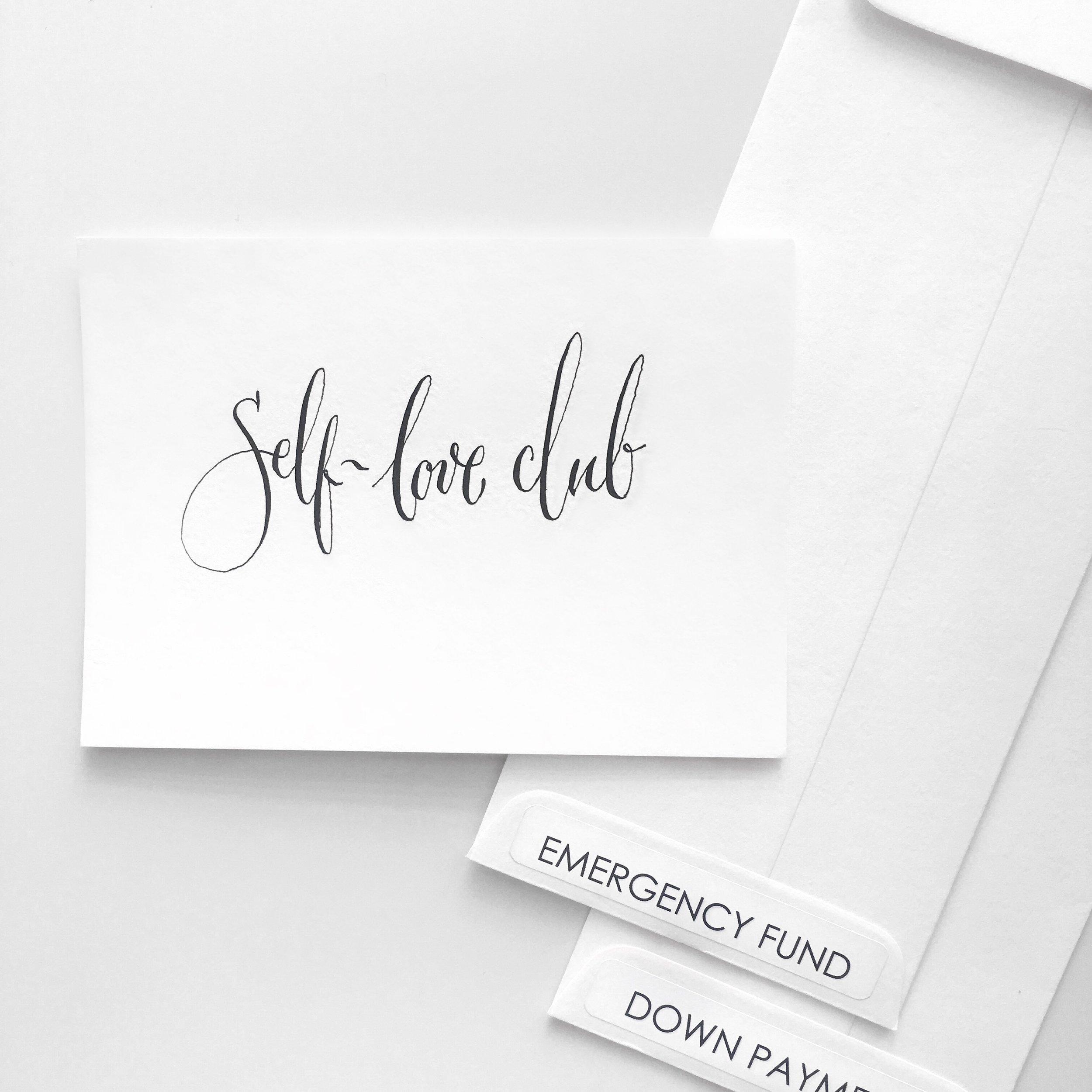 Self-love club. 💕