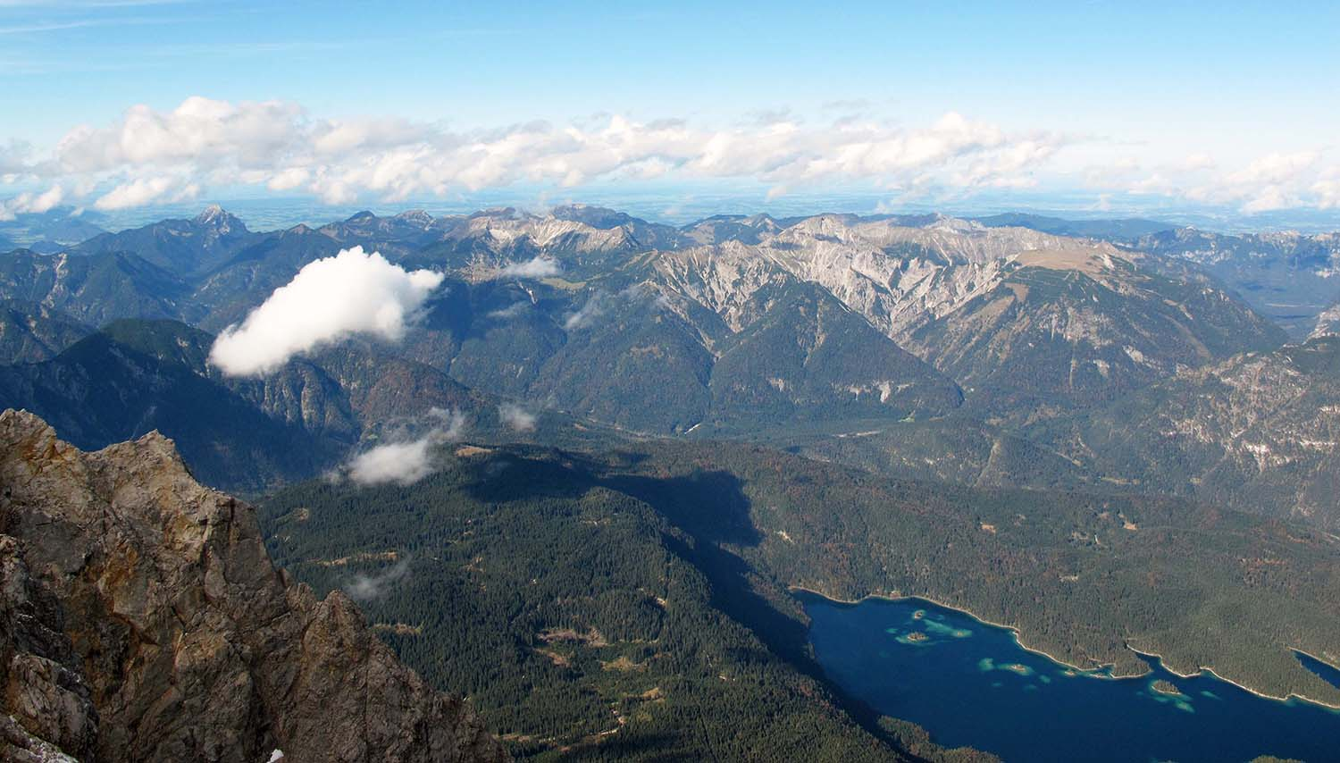 The view from the Zugspitze