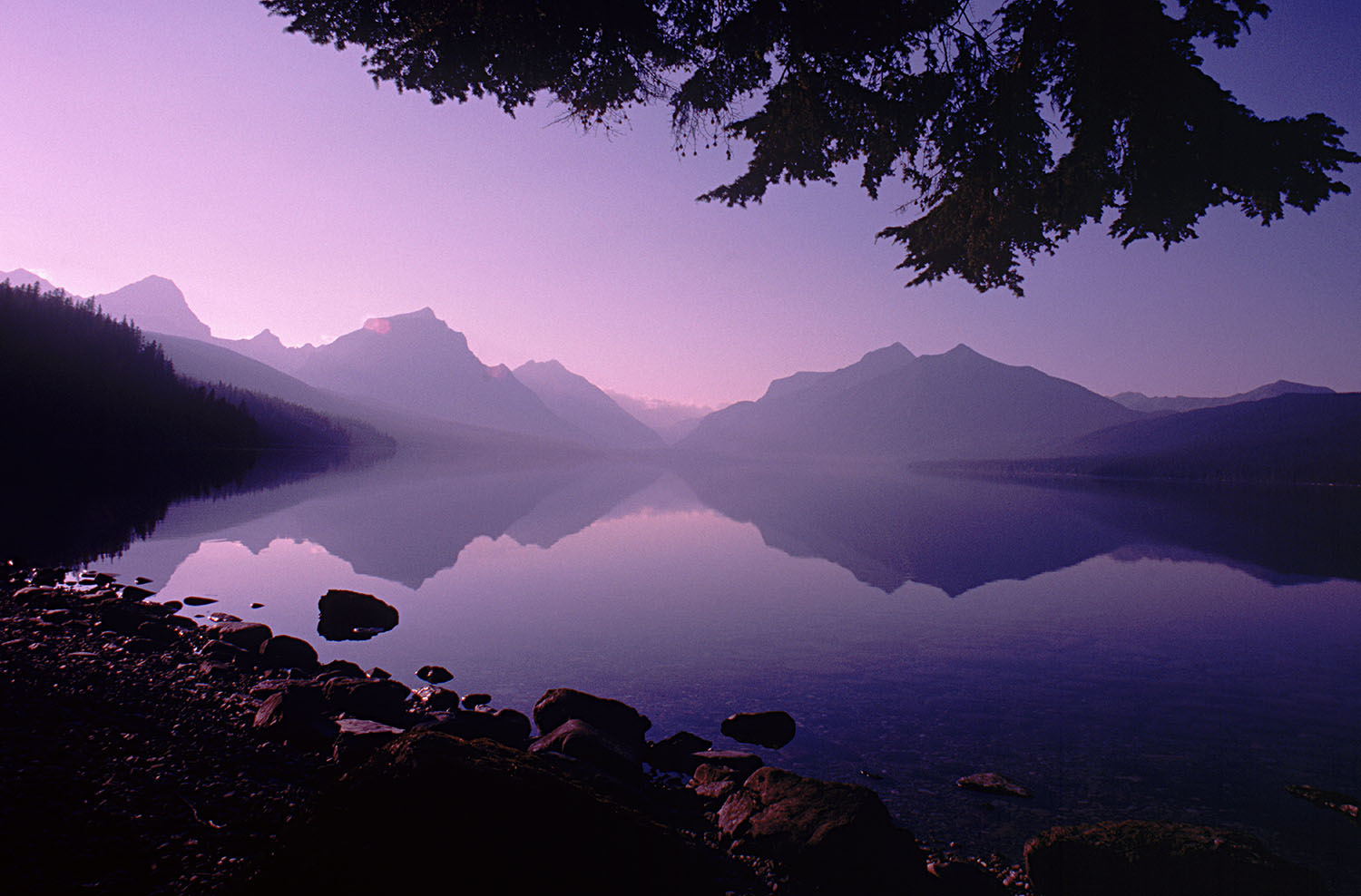 Dawn on Lake McDonald
