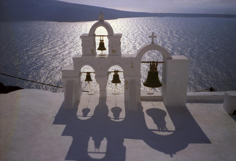 Four Bells in Santorini