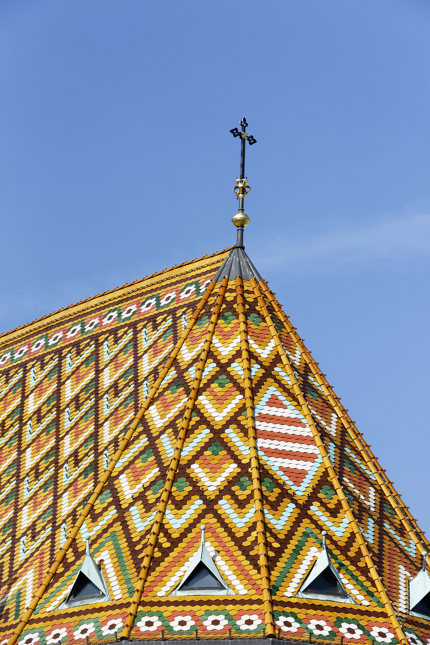 The roof of St. Mathias