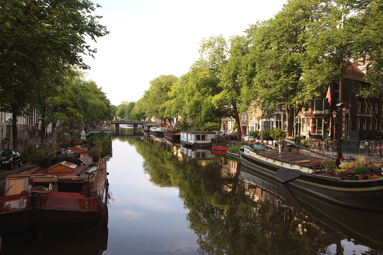 Canal Boats in Amsterdam