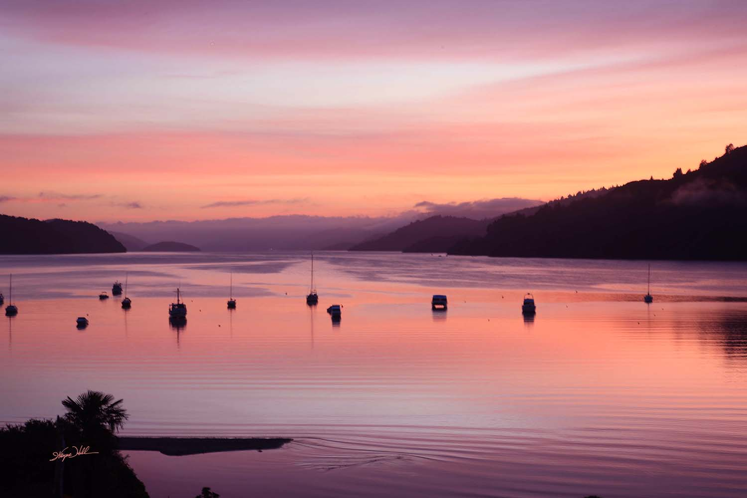 Sunrise Over Queen Charlotte Sound
