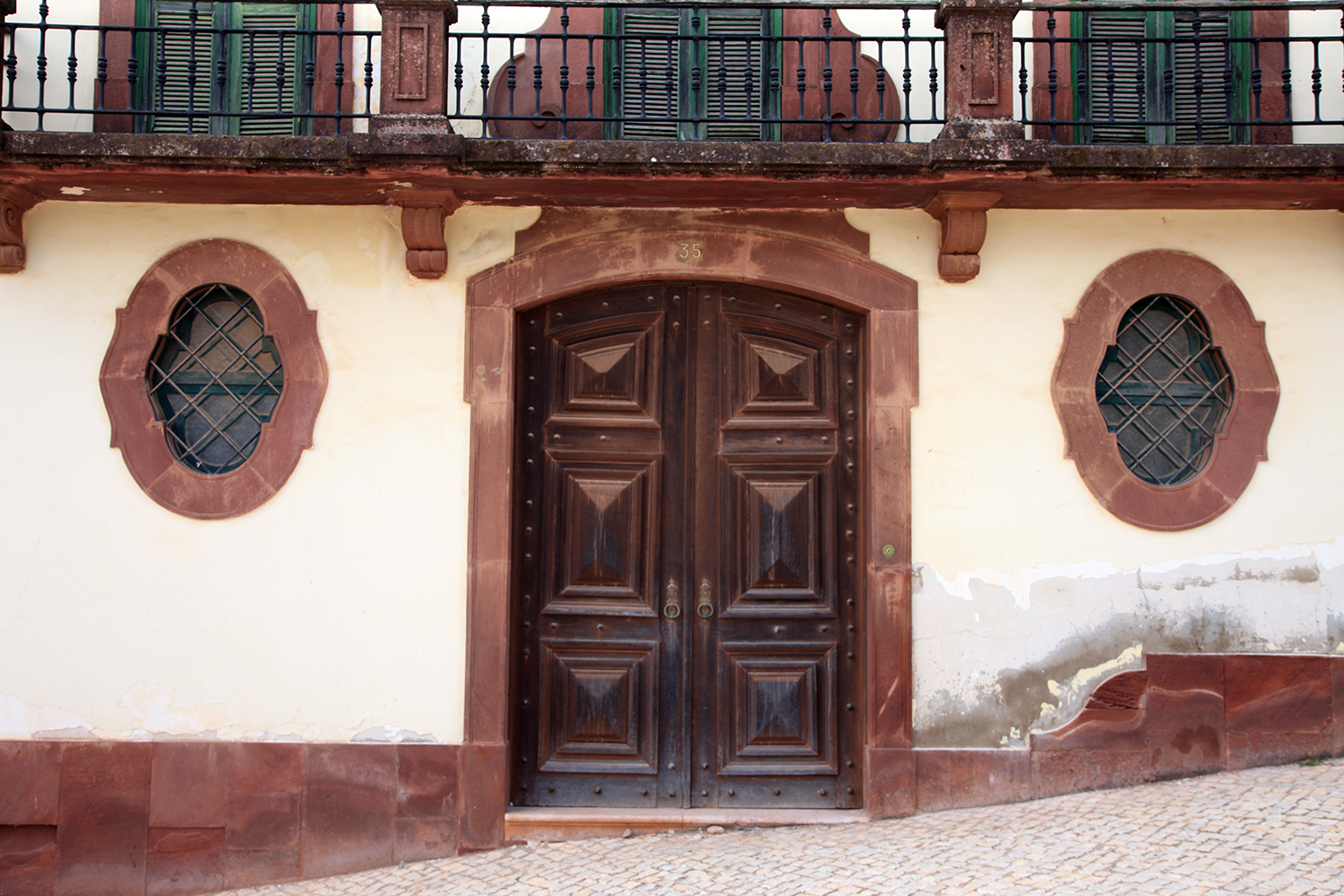Brown Door in Ferragudo