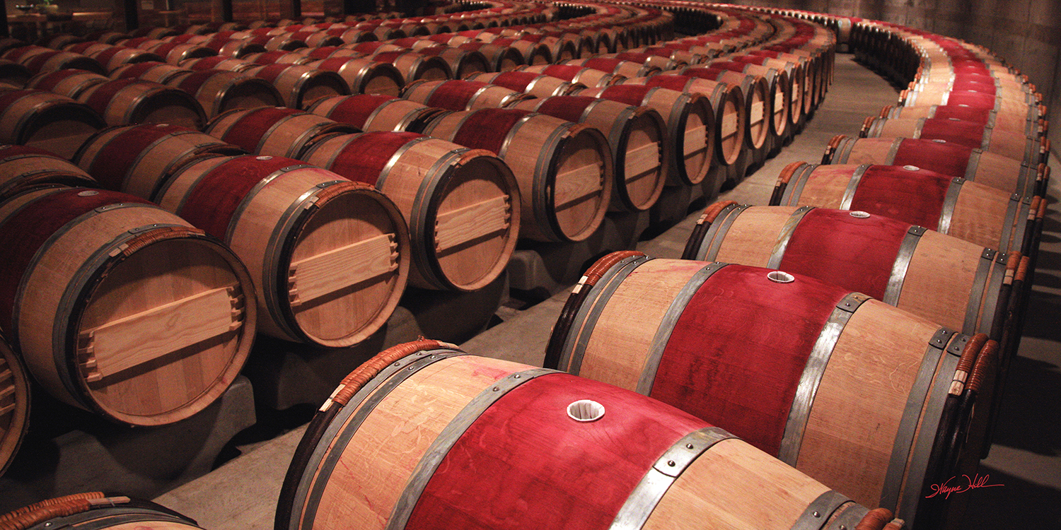 The Contented Barrels at Opus One