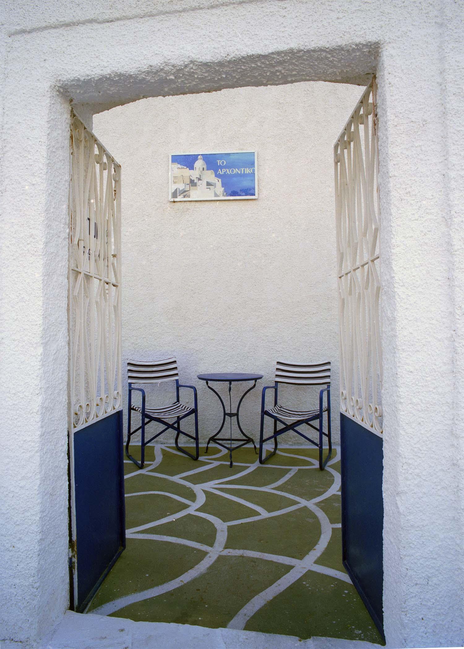 Courtyard in Santorini