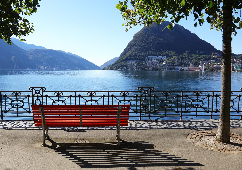 The Bench on Lake Lugano