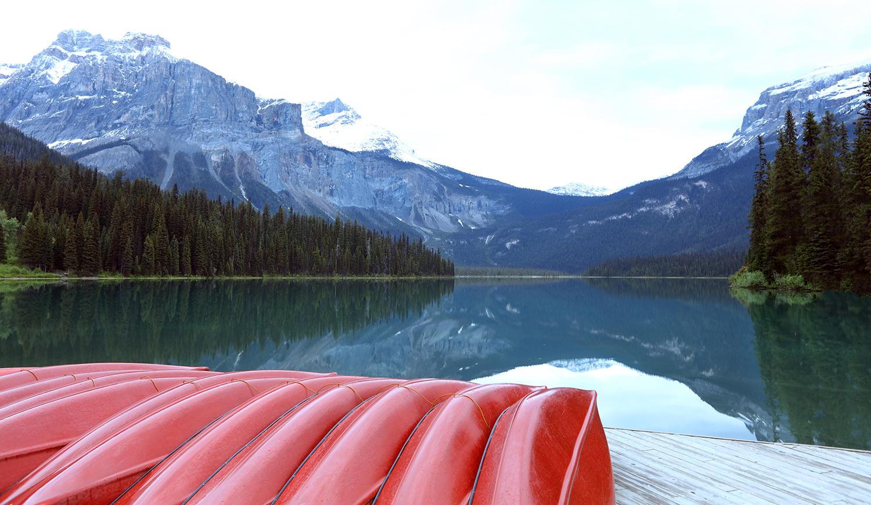 Dawn at Emerald Lake