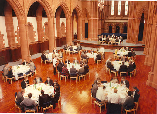 Delegates meal in the Barony Hall