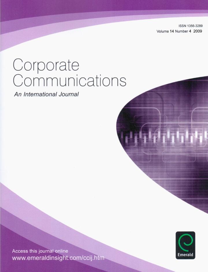 Corporate Communications: An International Journal (2009)