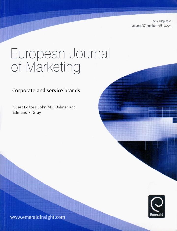 European Journal of Marketing (2003)
