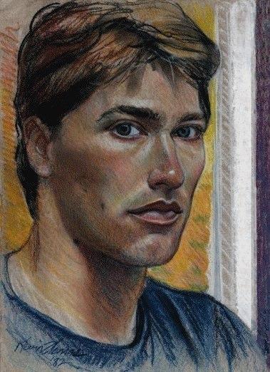 """Self portrait"" • 12"" x 16"" • pastel on toned paper • NFS"