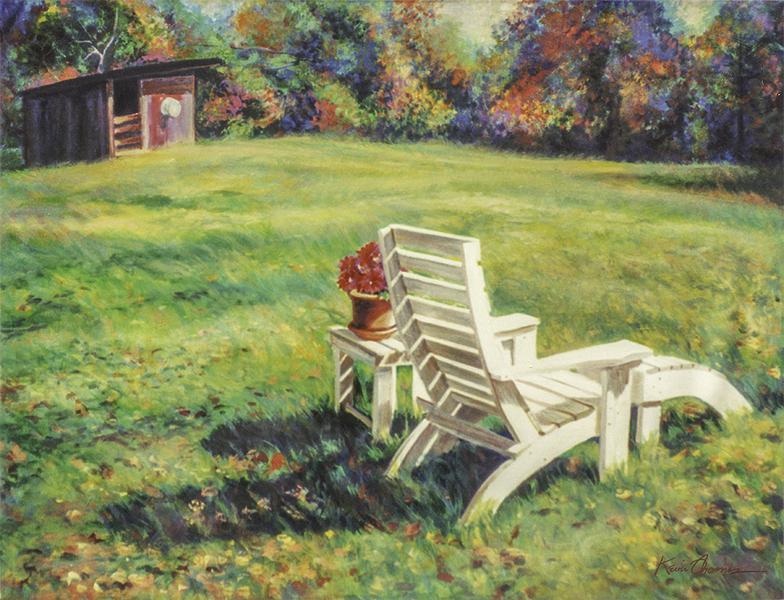 """""""Autumn Lounge"""" • 30"""" x 40"""" • acrylic on canvas • NFS"""