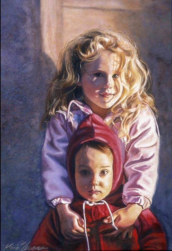 """Kate & Drew"" • 15"" x 22"" • watercolor • NFS"