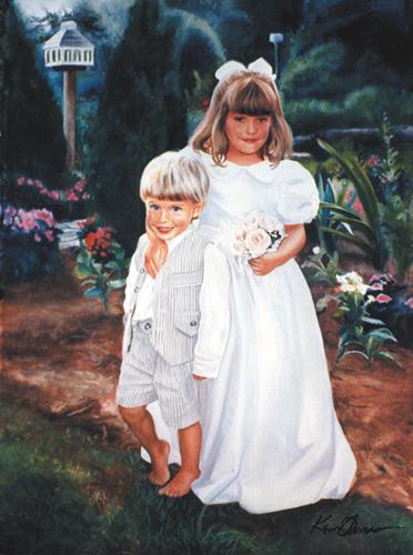 """The Klatt Children"" • 30"" x 22"" • watercolor • Commission"