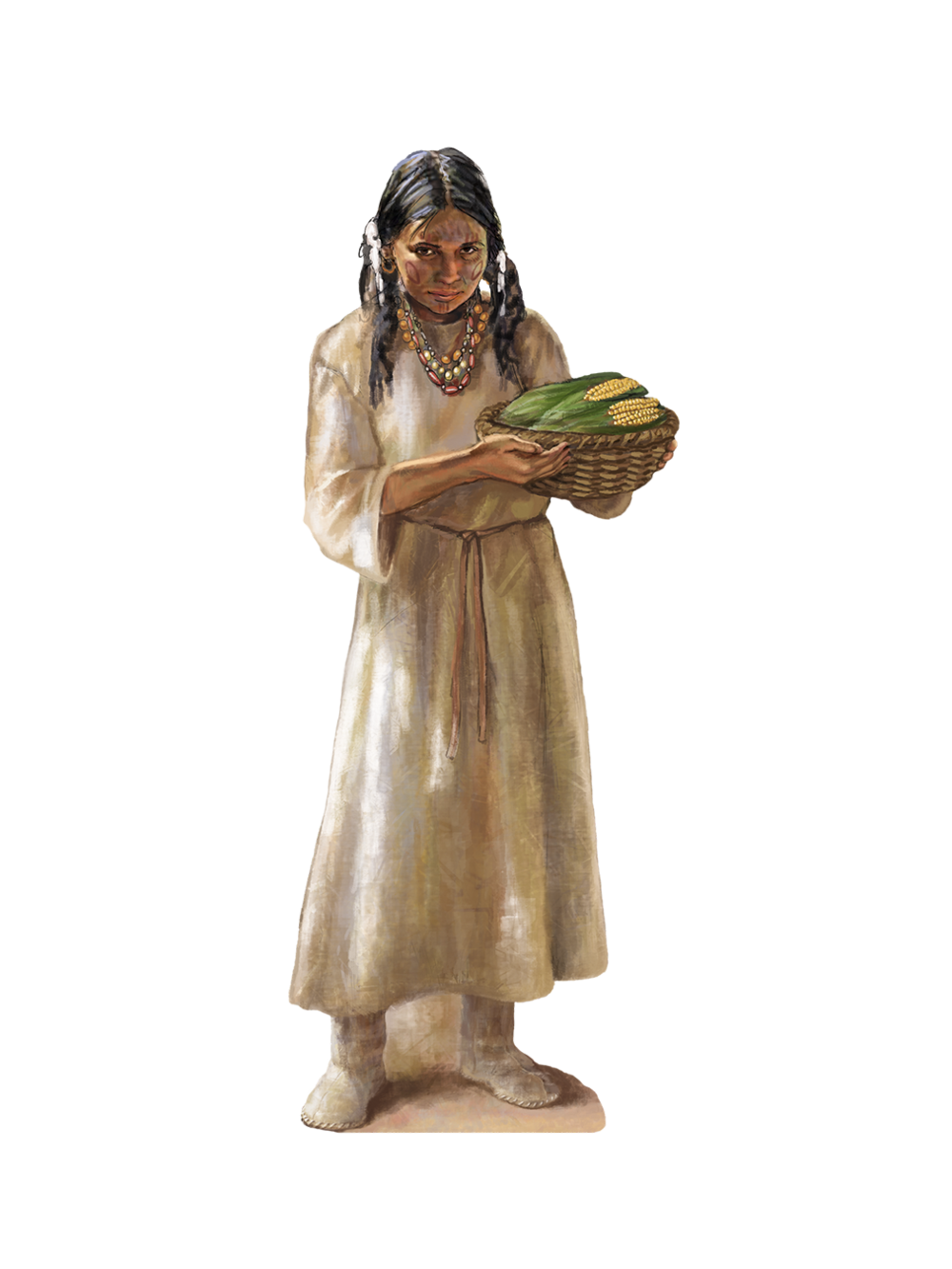 """""""Native Girl""""- Stand off • Full view w/ native girl (life size) stand off • See murals page for full view of Tales N' Trails Museum, Nocona, TX. © KT"""