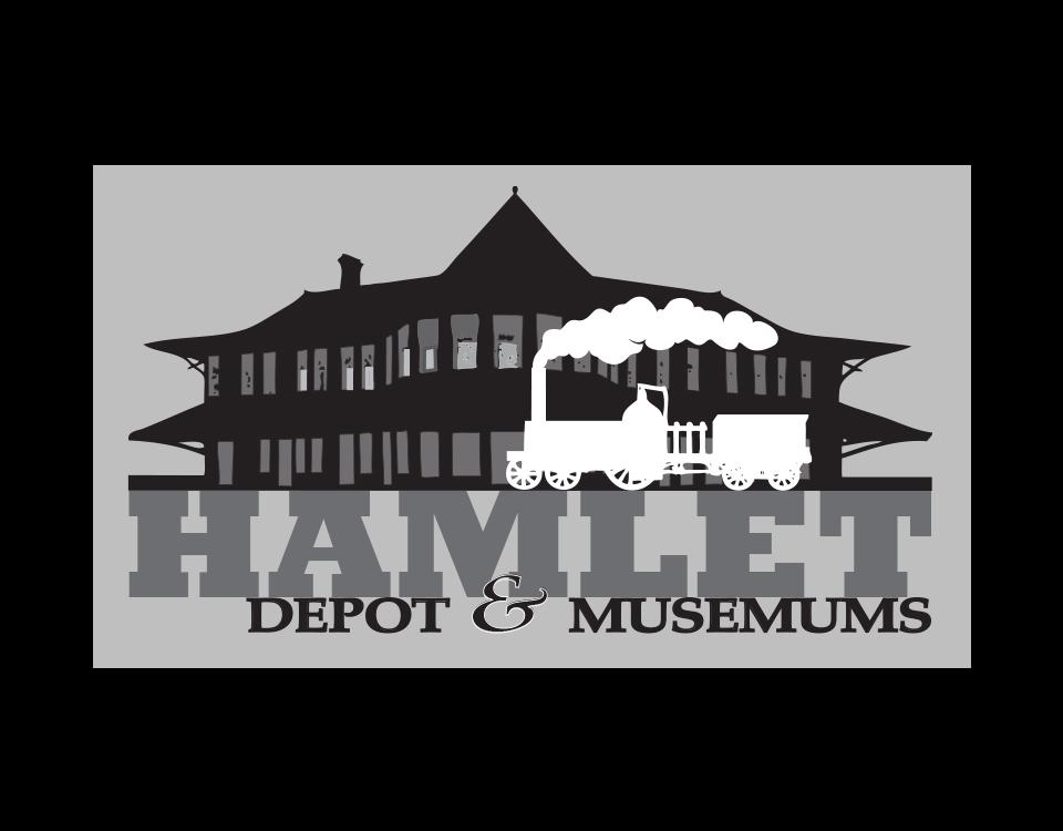 """""""Hamlet Depot & Museum"""" • Silhoutte Design (option C) Hamlet, N.C. © KT"""