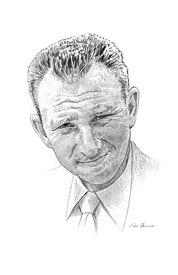 """""""Don Yenko"""" • 12"""" x 14"""" Graphite, Hall of Fame Inductee, National Corvette Museum • Bowling Green, Kentucky. © KT"""