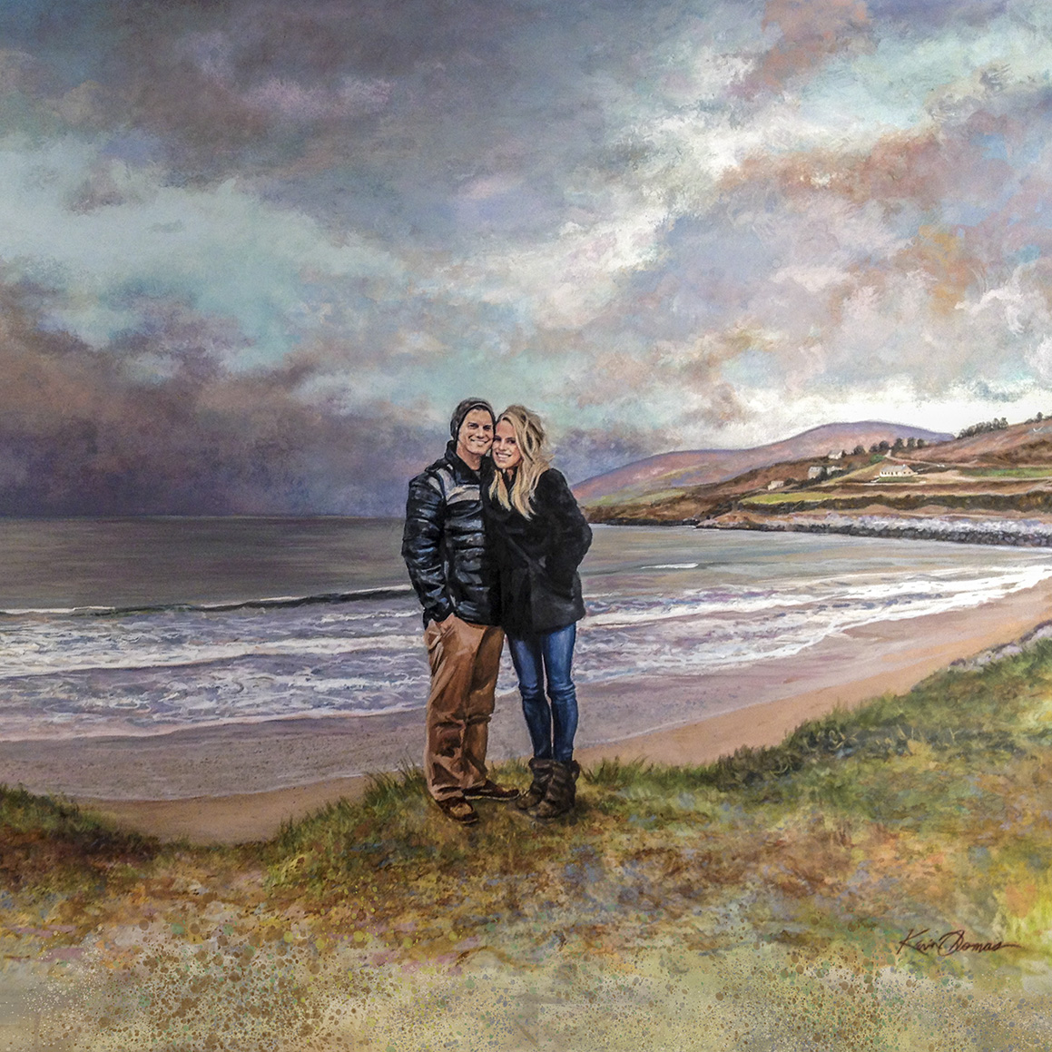 """Kate & Kyle in Ireland"" • 20"" x 30"" • watercolor • NFS"