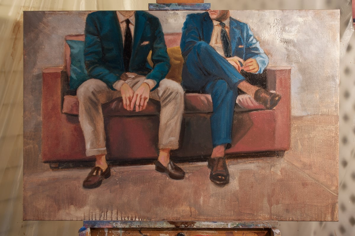 """""""Game Plan"""" • 24"""" x 36"""" • oil on canvas"""
