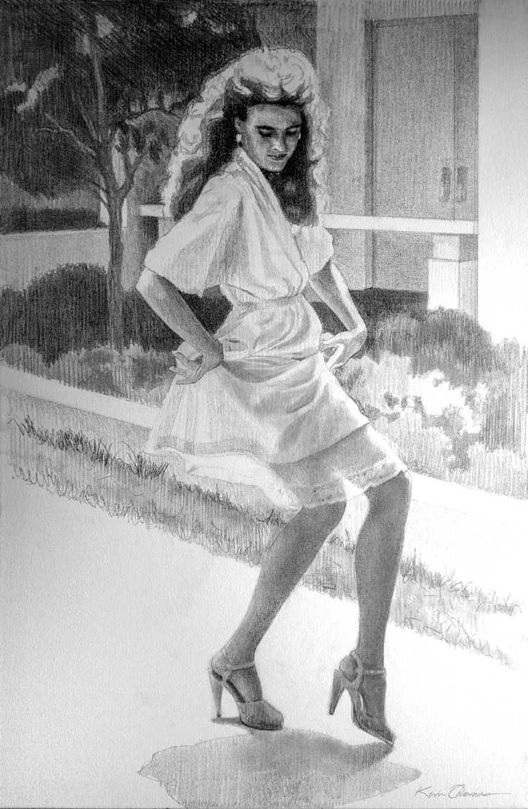 """""""Kathryn's Slip"""" • 24"""" x 36"""" • preliminary drawing (Graphite) • oil on canvas"""