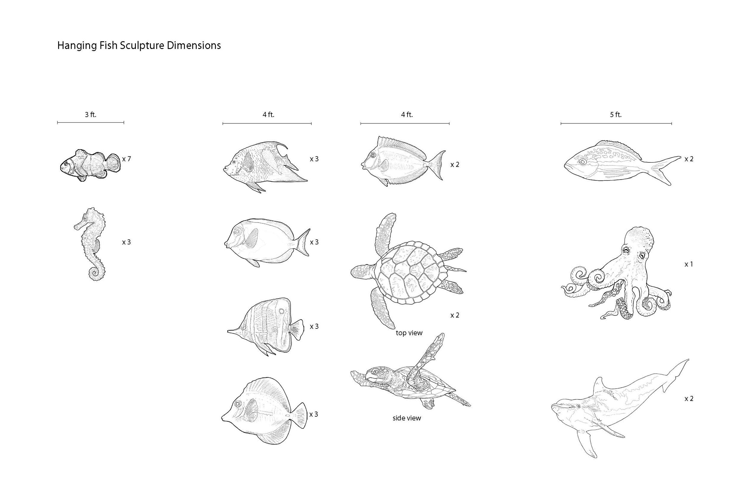 Illustrations of Sea Creatures for graphic concept • University Health Systems, Children's Hospital – Pitt County Memorial Hospital.