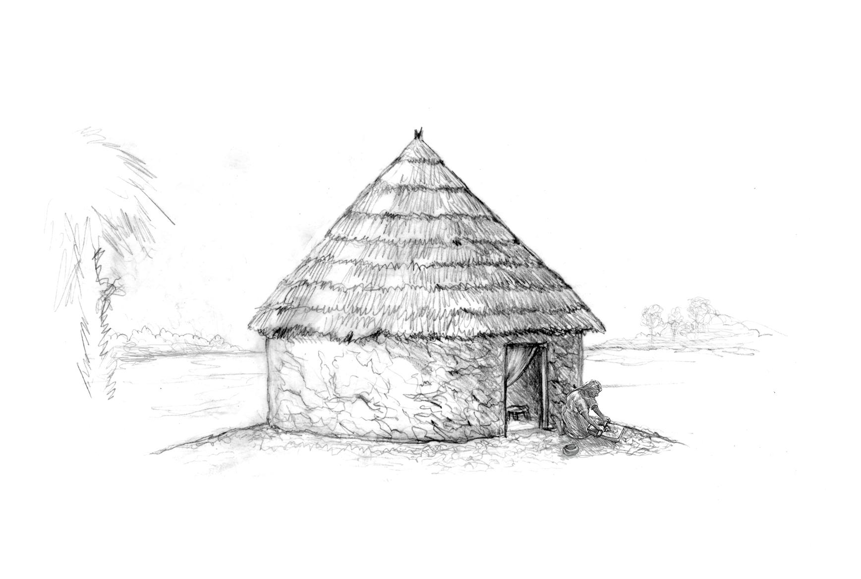 """Concept for """"Hut"""" • Fort Mose Visitors Center St. Augustine, FL. © KT"""