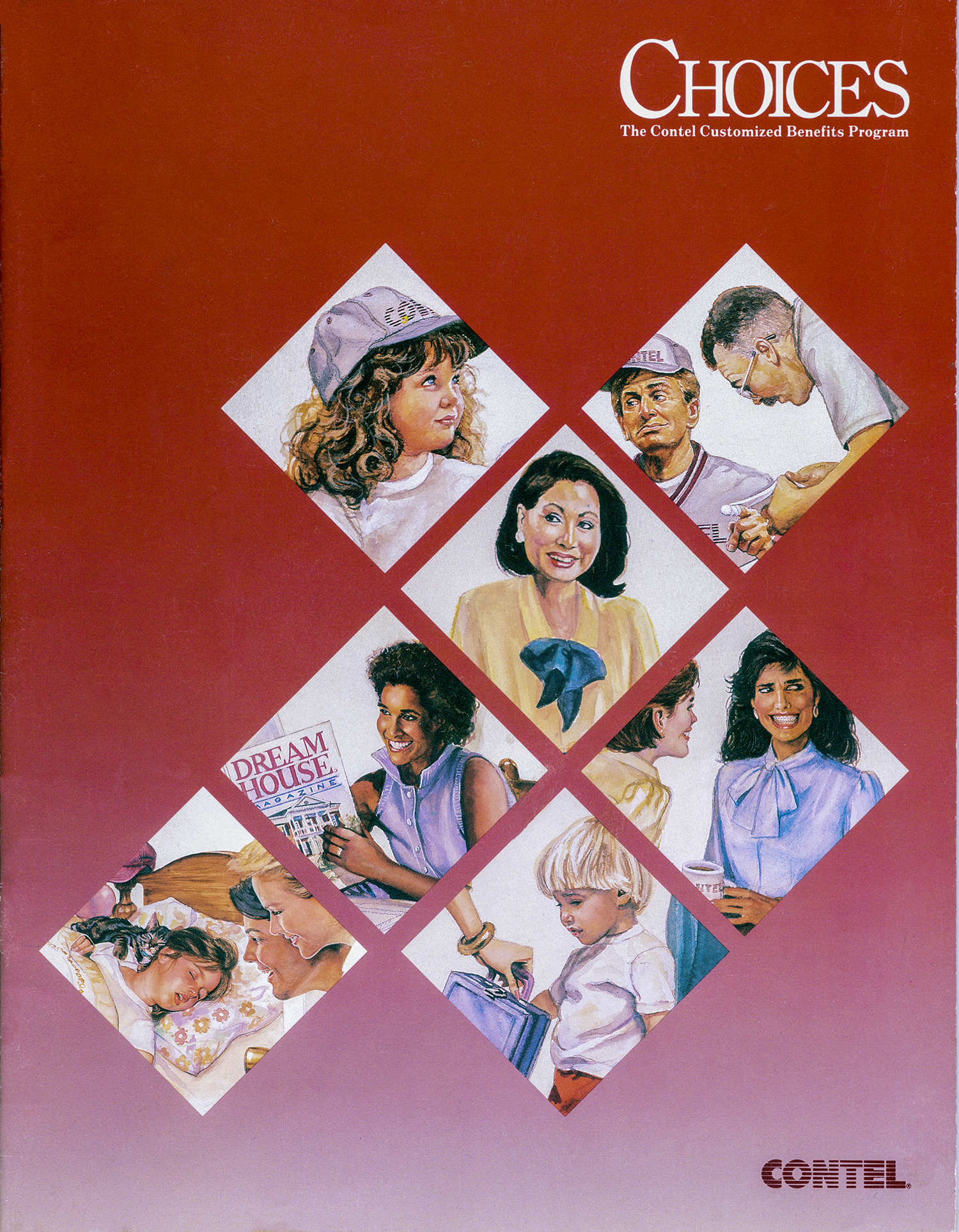 """""""Choices"""" Cover Illustrations, Contel Communications, Corporate Report"""