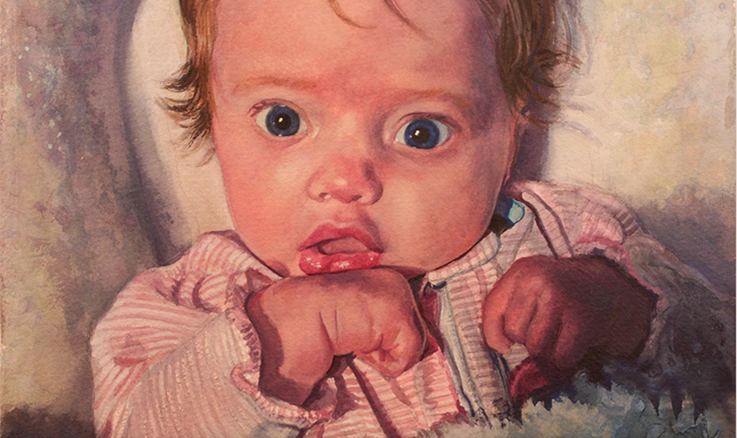 """""""Leighton"""" 15"""" x 20"""" • watercolor"""