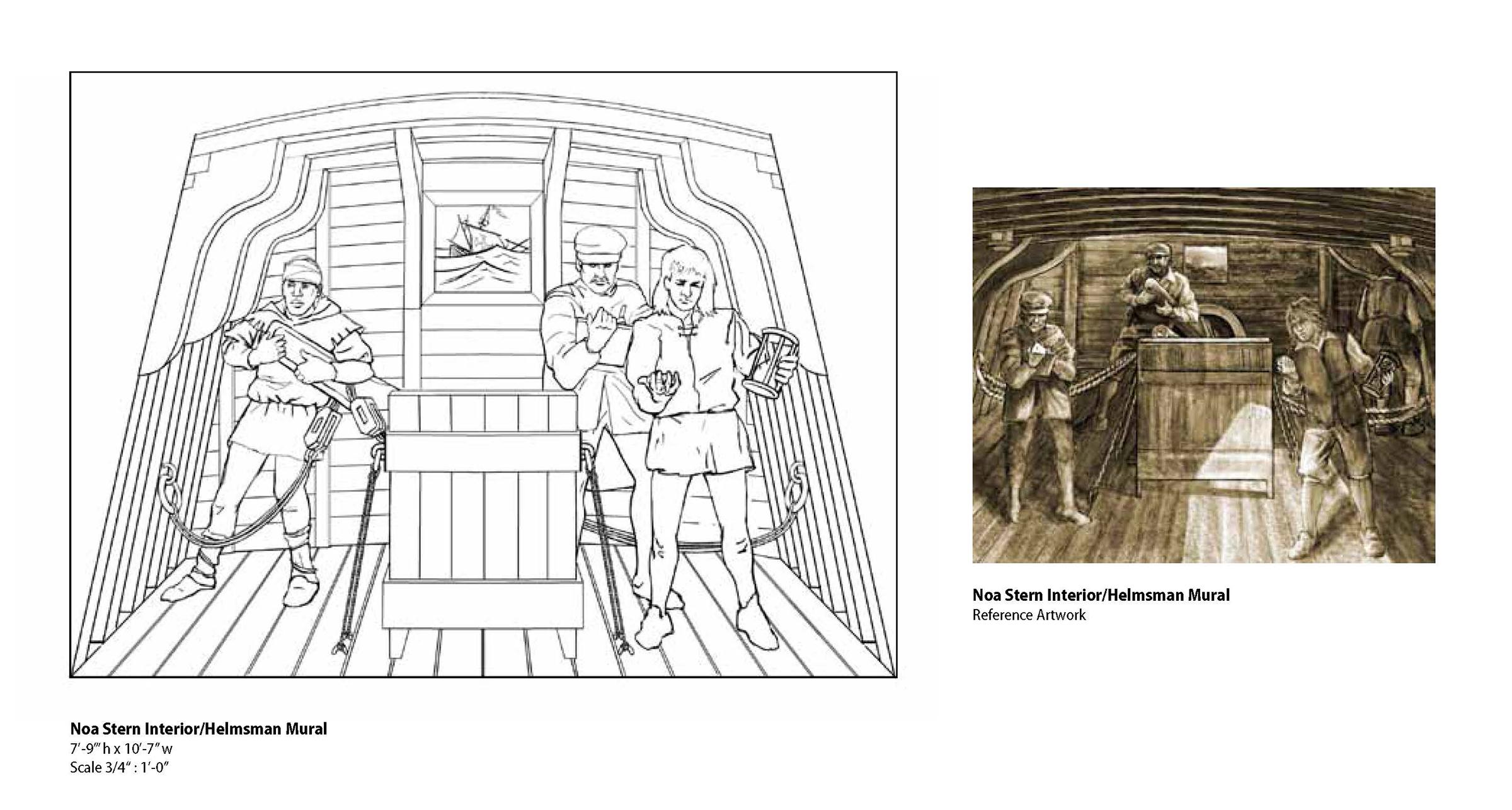 Concept for Noa Stern Interior/Helmsman • Digital Illustration, Museum Of Florida History, Tallahassee, FL © KT