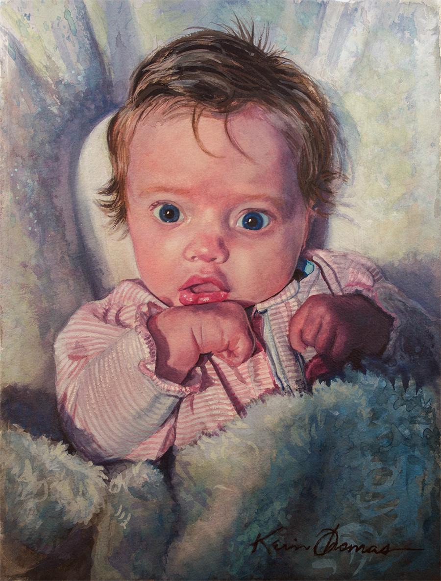 """""""Leighton"""" • 11.5"""" x 15"""" • watercolor"""
