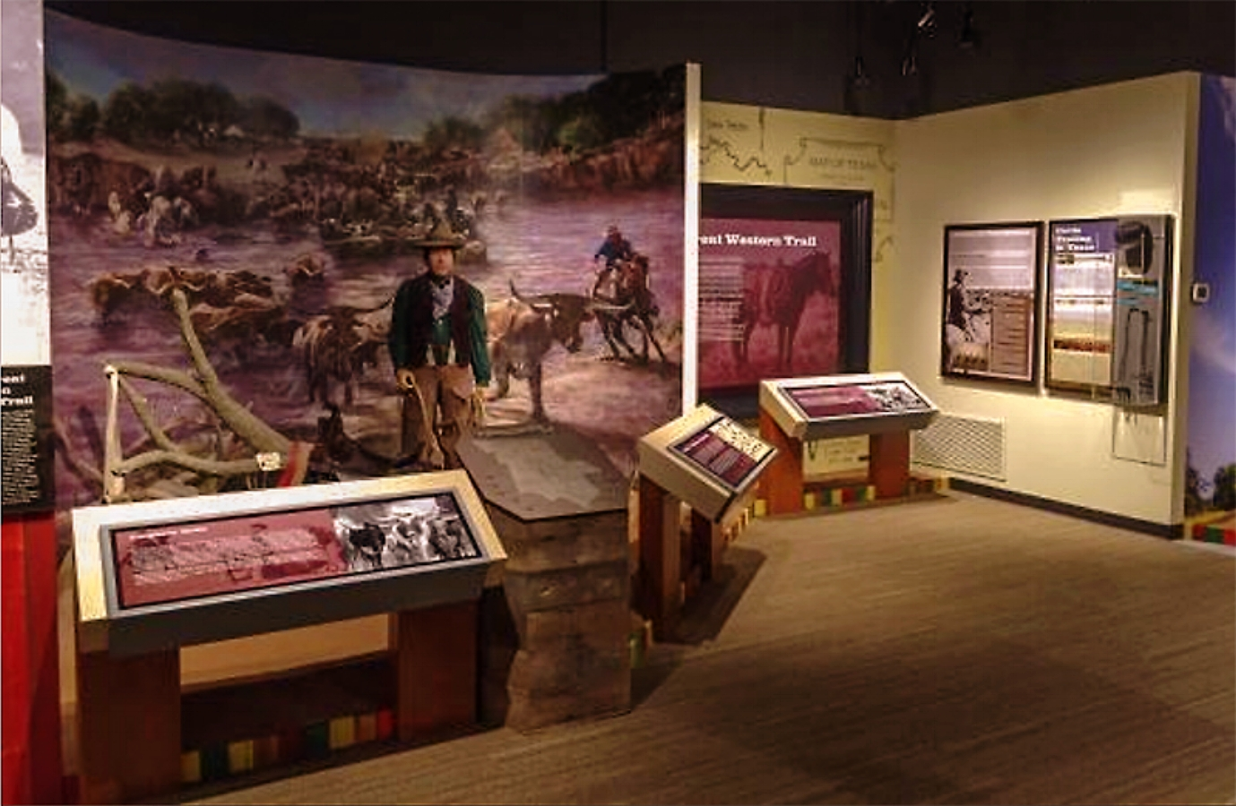 """Red River Mural"" • (installed) • 21' 11.5"" w by 10' h • Red River Valley Museum, Vernon, © KT"