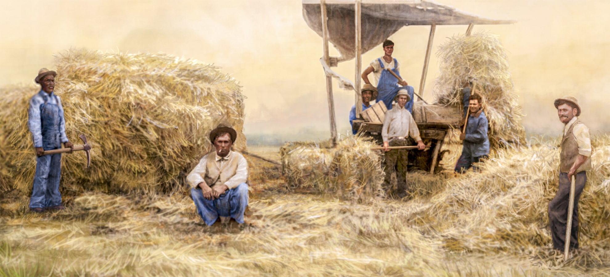 """Agricultural Mural""- Center right • 34' by 9' • Digital • Forney Spellman Museum • Forney, TX. © KT"