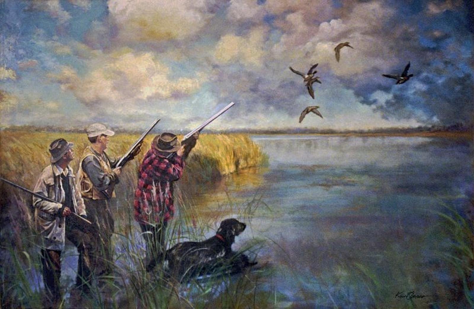 """Hunters"" • 60"" x 108"" • oil on linen"