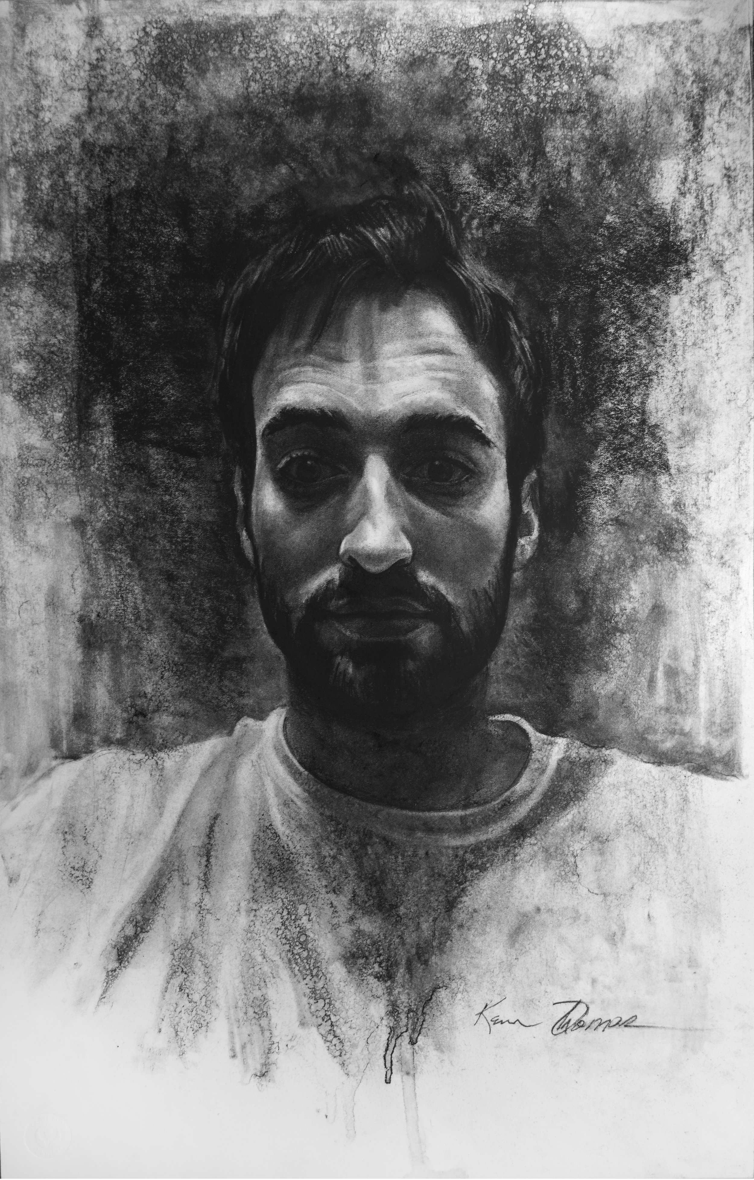 """""""Drew"""" • 22"""" x 14"""" • Charcoal on paper"""