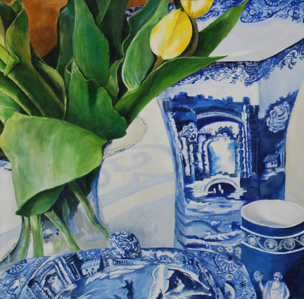 Blue Italy Triptych #3