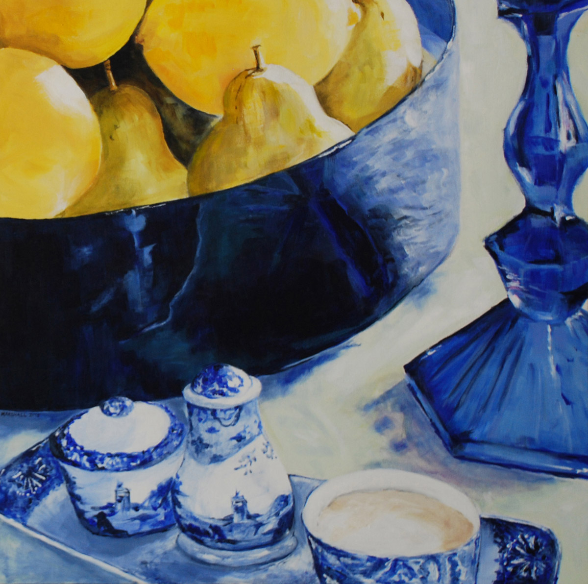 Blue Italy Triptych #1