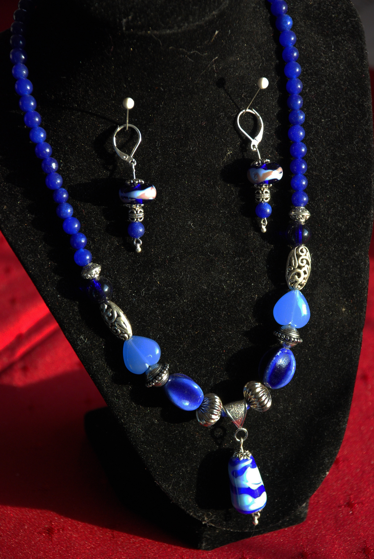 Flamework Pendant and Earrings