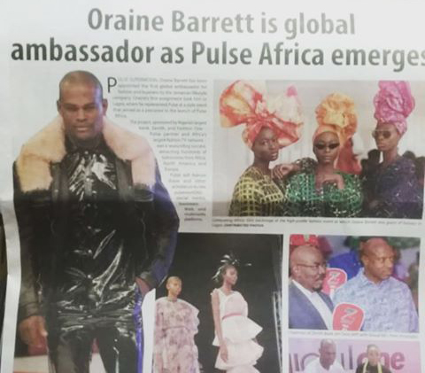 Oraine Is Global Ambassador As Pulse Africa Emerges