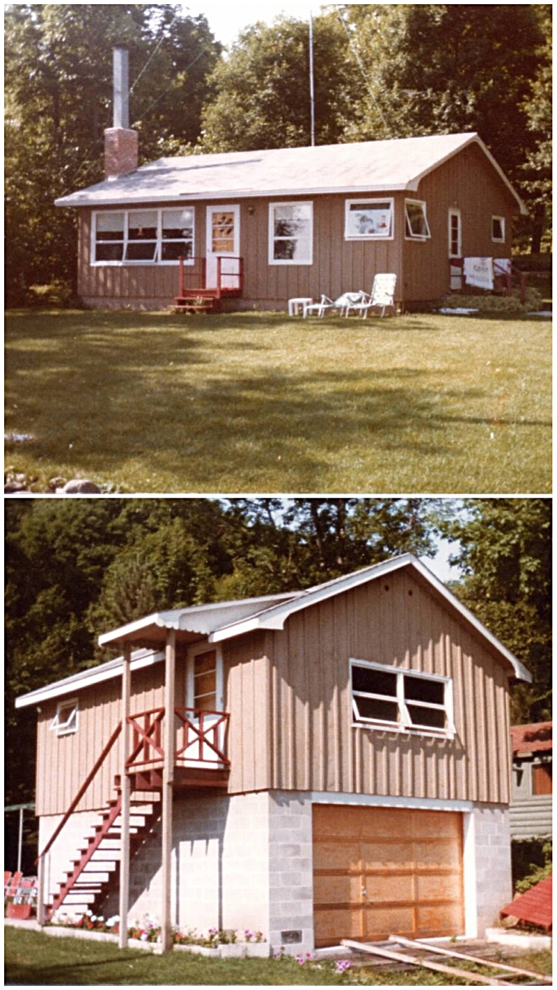 The cabin. Aka the house and boathouse that grandpa built. (Old pics, but perfectly captures the essence of the place that gave me life.)