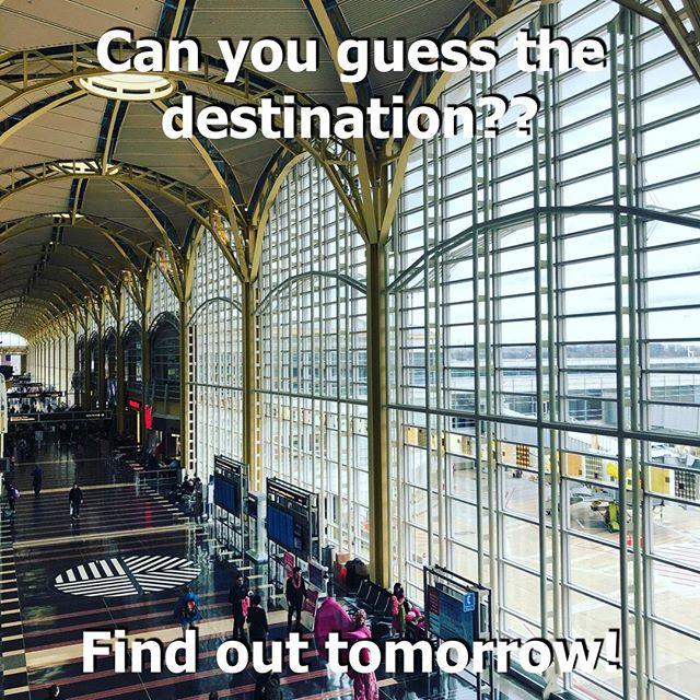 A new destination coming tomorrow! Can you guess it??⠀ .⠀ .⠀ .⠀ #guessthedestination #instapassport #travelgram #traveling #travelers #explorer #exploring #wanderer #travelbug #travelblogger #travelphotography #travellife #travelpics #traveladdict #instatravel #instatraveler #passport #vacation #tripstagram #Traveler #Wanderlust #SoloTravels #TLPicks #cntraveler #destinations #luxurytravel #viajantedeprimeira #viagem #airport #dc