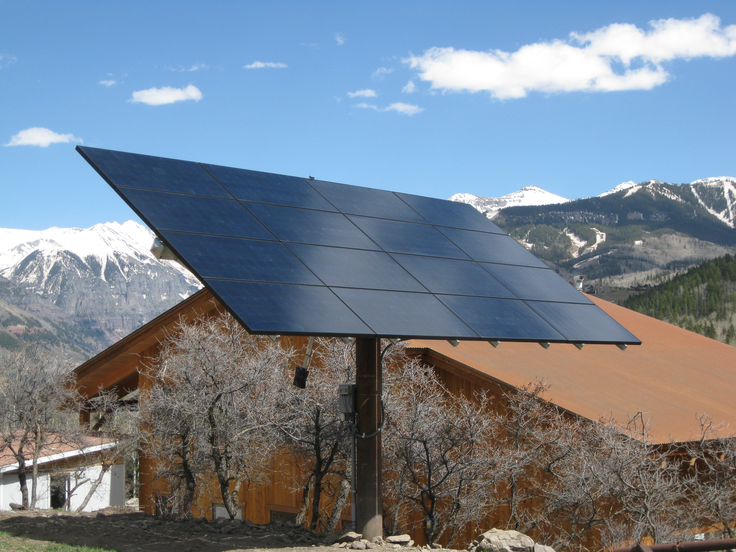A solar power system designed by Alternative Power Enterprises